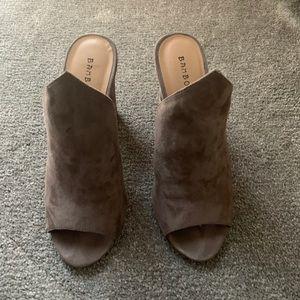 BAMBOO Peep toe mule